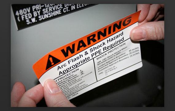 Hazard warning sticker
